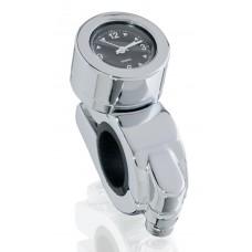 MONTRE avec cadran noir pour montage sur guidon moto 22 et 25.4 mm