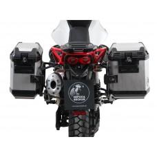V 85 TT 2019- Moto Guzzi : Ensemble de 2 panniers Hepco becker Xplorer avec les  supports