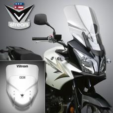 "DL 650 2004-2011 Suzuki : Bulle Vstream de National Cycle ""Touring"" N20213 en transparente"