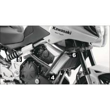 Versys 650 2010-2014 Kawasaki pare carters de H&B en noir