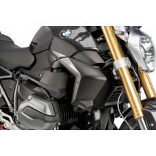 R 1200 R LC  BMW 2015- Ecopes radiateur Puig en noir mat : 7694J