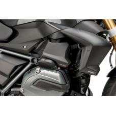R 1200 R LC  BMW 2015- Chapeau buse injection . Puig en noir mat : 8105J