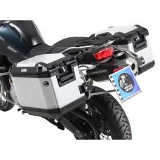 """F 850 GS 2018- BMW  Ensemble de 2 panniers Hepco becker Xplorer """"Cut-Out"""" avec supports en INOX"""