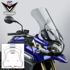 """TIGER EXPLORER 1200 2012 t/m 2015 Triumph Bulle en Lexan de National cycle """"sport-touring"""" N20604 Dimensions; H 51.8 X L 4702 CM en fumé leger"""