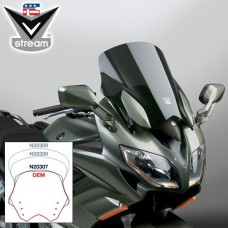 "FJR1300 2013-2014-2015-2016-2017-2018 Yamaha : Bulle Vstream pour le FJR 1300 de National Cycle ""sport"" N20307 : H 43.8 X L 52 CM en fumé"