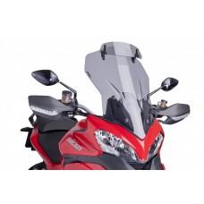 MULTISTRADA 1200 DUCATI BULLE de PUIG incl deflecteur: 6505H Dim:H 580 X L 410 mm (hors deflecteur)