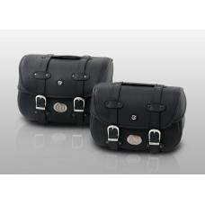 LIBERTY sacoches  cuir de Hepco&Becker: paire pour montage sur c-bow Hepco Becker