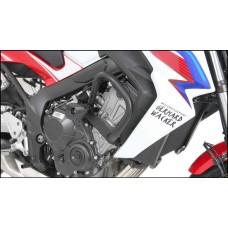 CB 650 F 2014- Honda Pare carters noir hepco becker