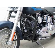Softail Harley-Davidson 2007- FLSTN-FLSTF-FLSTC Pare cylinders - protection en noir.