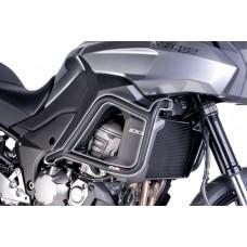 Versys 1000 2012-2014 Kawasaki pare carters noir