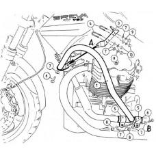 Breva 750 ie : Pare carter-cylindres pour Moto Guzzi Breva 750 ie en NOIR