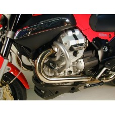 1200 Sport Pare carter-cylindres  pour  Moto Guzzi 1200 sport en noir.