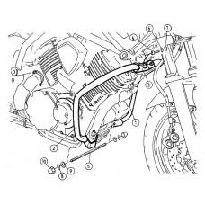 "BT 1100 Bulldog Yamaha "" Pare carter Hepco becker  en chrome"