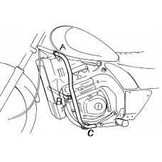 EL 250 / 252 Kawasaki pare carters chrome