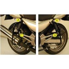 ER 5 2001> Kawasaki kit protection moto arrière 2 pieces gauche et droite