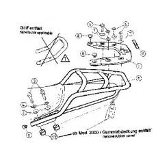 FZS 600 Fazer  Yamaha support topcase porte bagage - porte paquets