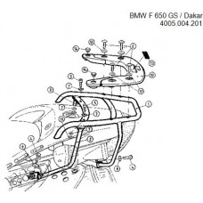F 650 GS / Dakar - 2004 BMW porte paquets porte bagage ou support top case