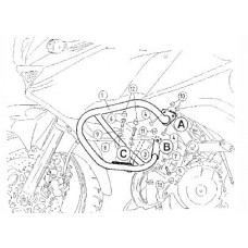 KLV 1000 Kawasaki Pare carter-reservoir