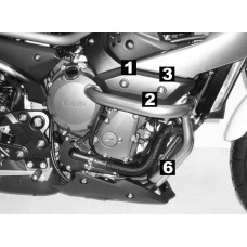 XJ 6 Diversion 2009- Yamaha pare carters - protection en noir