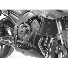 FZ 8 Fazer Yamaha pare carter noir