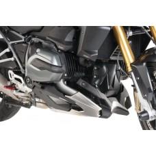R 1200 R LC  2015- + R1200 RS LC  2015- Sabot moteur BMW en noir mat