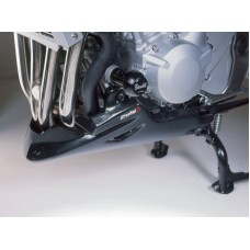 GSF 650 Bandit 2007- + GSF 1250 Bandit 2007- Suzuki Sabot moteur en noir mat avec kit deco