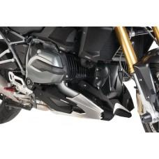 """R 1200 R LC 2015- + R1200 RS LC 2015- Sabot moteur BMW en """"Carbon fibre look"""" et  aluminium ."""