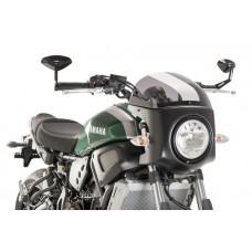 XSR 700 Yamaha Tête de fourche classic en noir mat pour les fixations etc.
