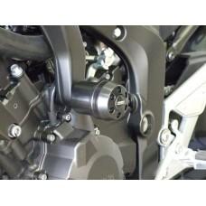 FZ 6 / Fazer  2004-2014  YAMAHA 2 tampons de protections carter moto Système 'X Pads' avec amortisseur
