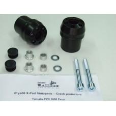 FZR 1000 Exup Yamaha 2 tampons de protections carter moto  Système 'X Pads' avec amortisseur